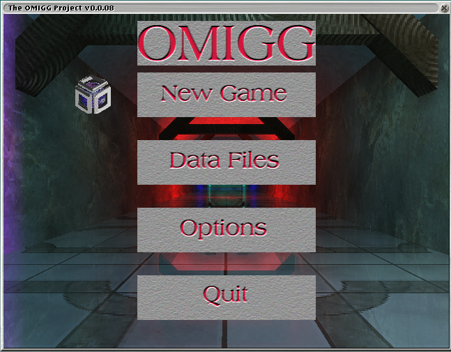 Screenshot: OMIGG Menu screen
